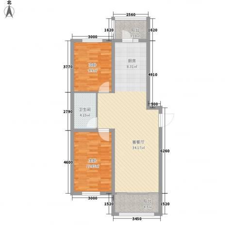 明光水岸2室1厅1卫0厨67.83㎡户型图