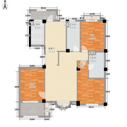 清水绿园3室1厅2卫1厨149.00㎡户型图