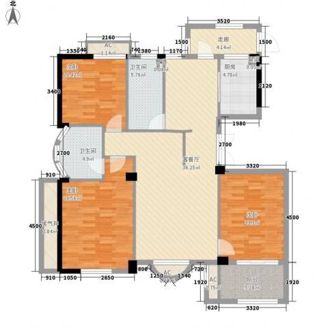 清水绿园3室1厅2卫1厨152.00㎡户型图
