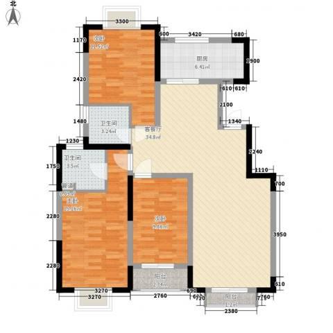 怡水花园3室1厅2卫1厨114.00㎡户型图