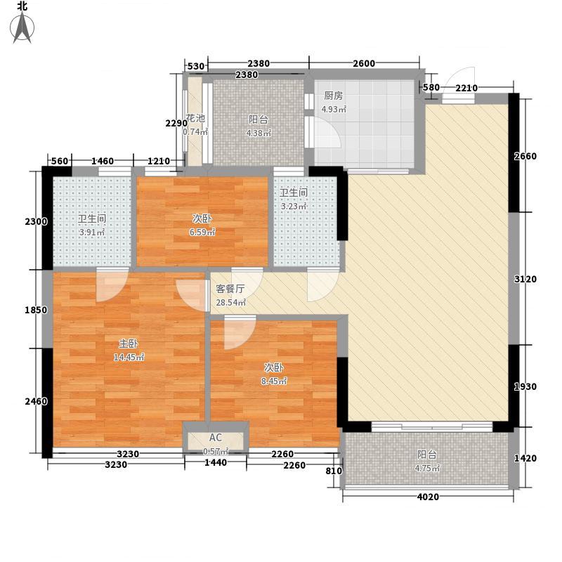 凯旋名邸115.00㎡凯旋名邸115.00㎡3室户型3室