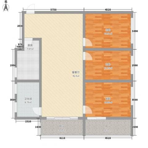 联芳花园3室1厅1卫1厨152.00㎡户型图