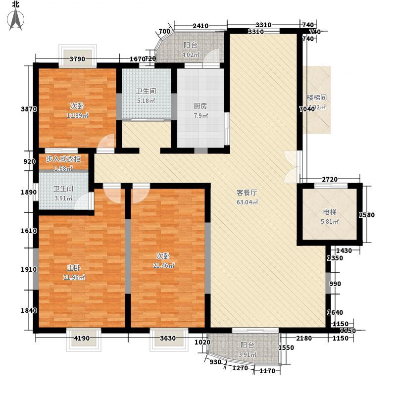 瑞祥花园如意世家162.81㎡1号楼A面积16281m户型