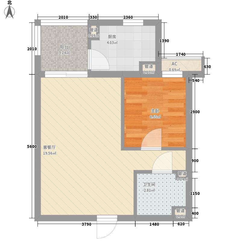 彩虹城53.26㎡B3面积5326m户型