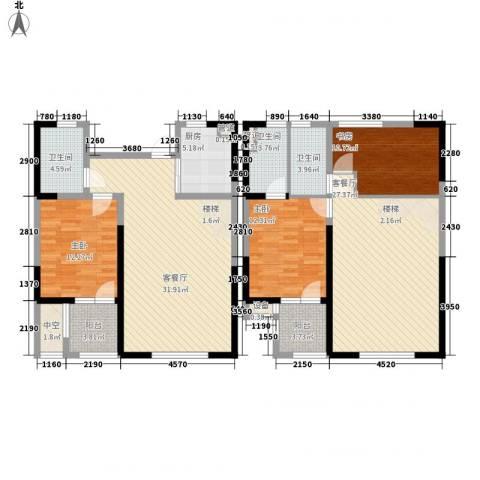 未来锦城3室2厅3卫1厨175.00㎡户型图