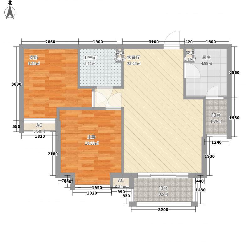 彩虹城6号楼B22户型