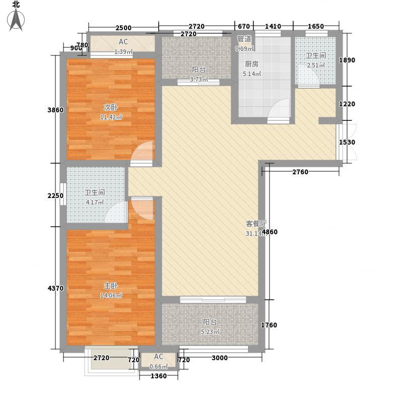 双汇国际116.00㎡N户型3室2厅2卫1厨