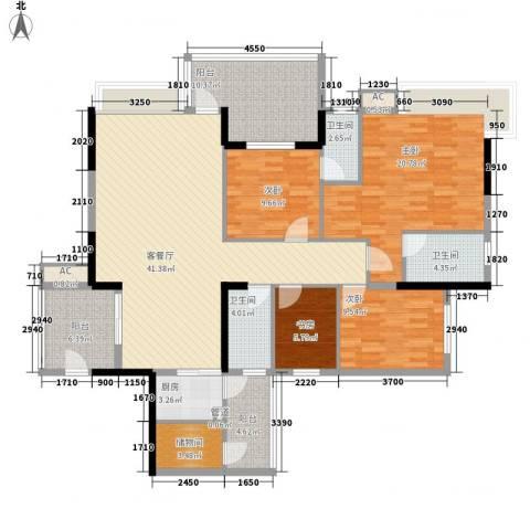 帝景蓝湾4室1厅3卫1厨134.00㎡户型图
