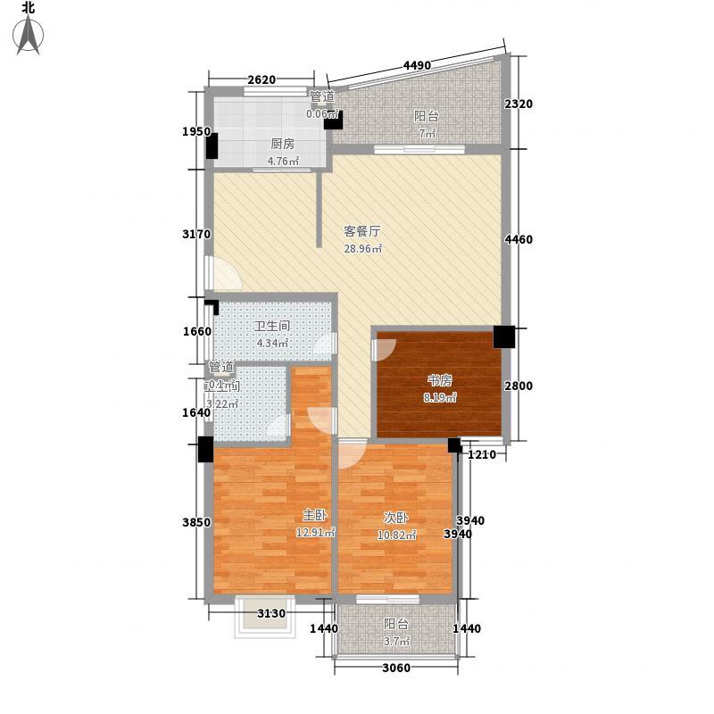 世欧澜山119.00㎡世欧澜山3室户型3室