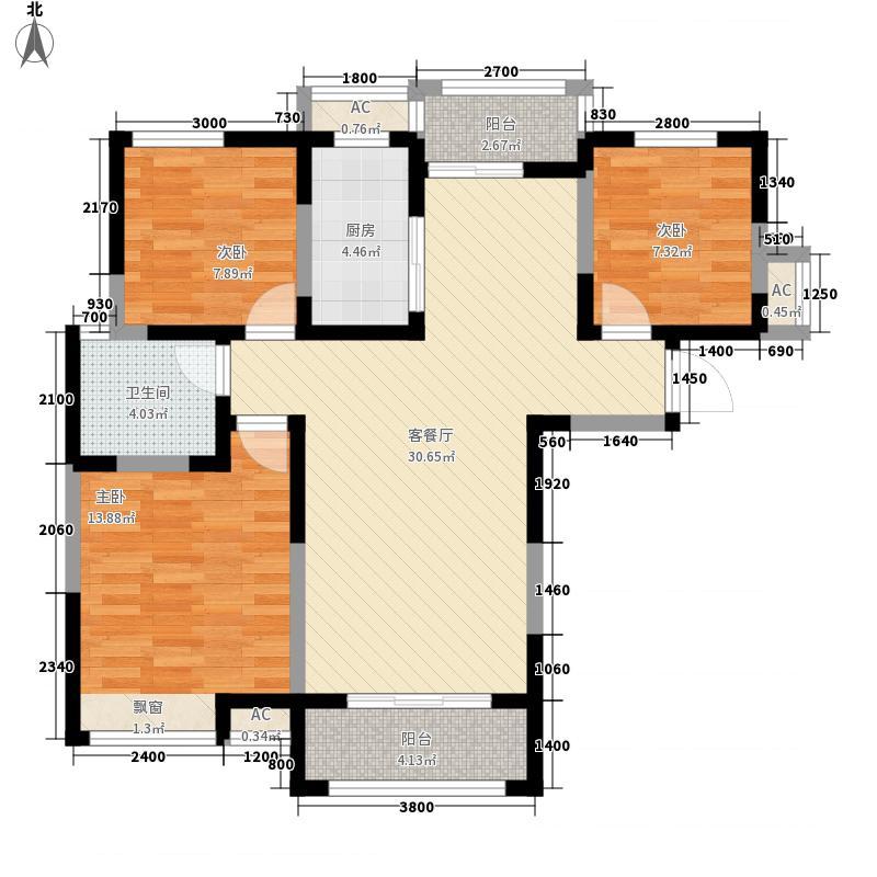 金宏豪庭8户型3室2厅1卫1厨