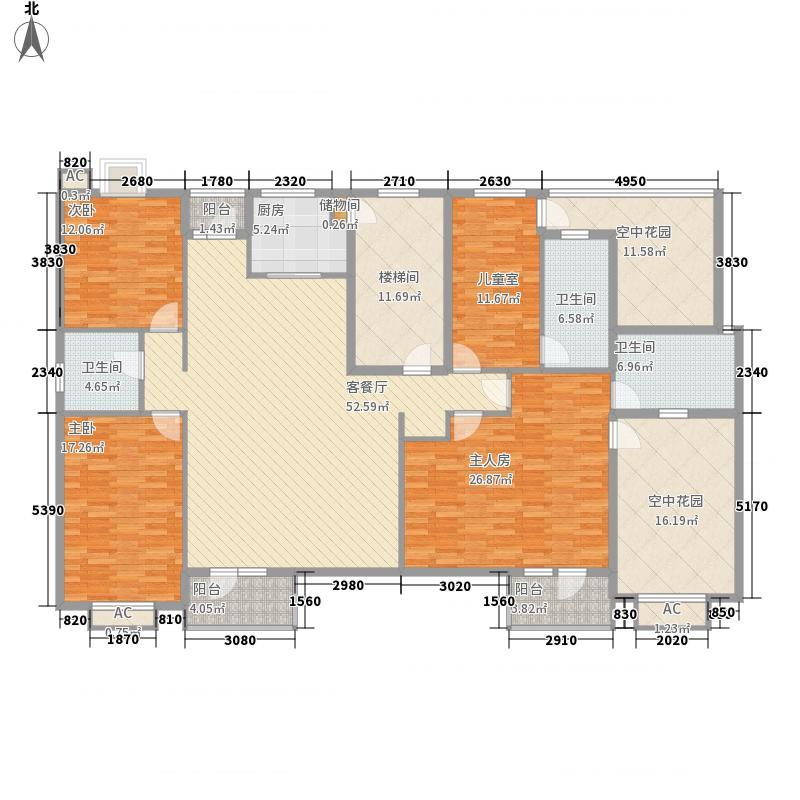 庭林熙谷214.00㎡庭林熙谷户型图户型图4室2厅3卫1厨户型4室2厅3卫1厨