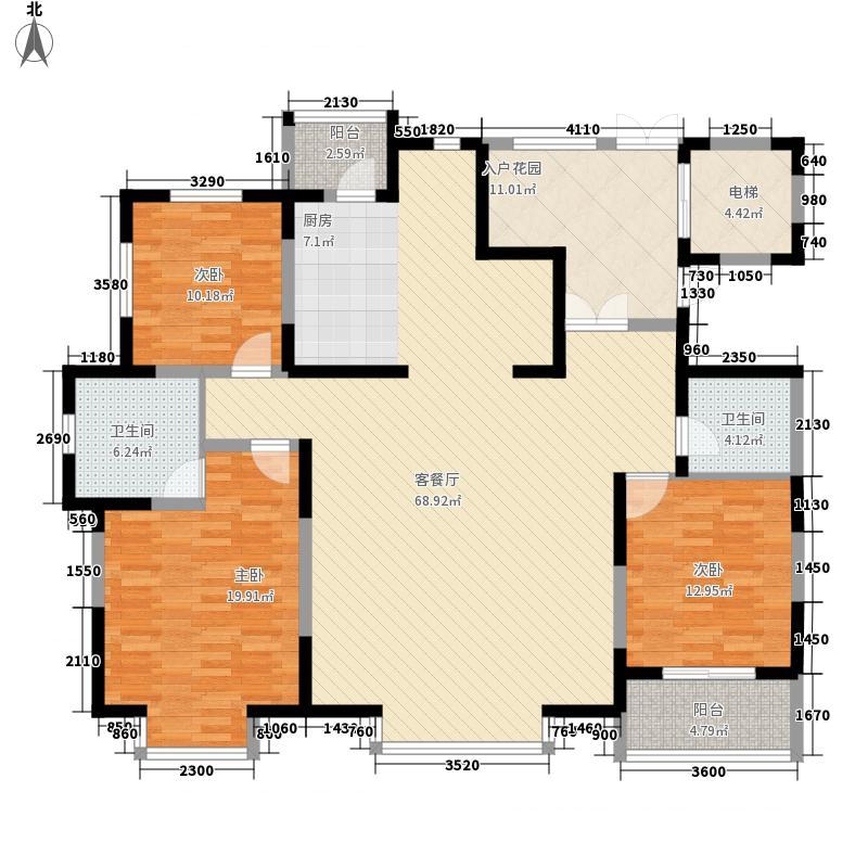 潍京185.34㎡二期F1户型3室2厅2卫1厨