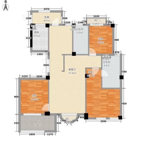 清水绿园3室1厅2卫1厨147.00㎡户型图