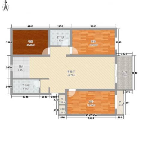 丽和阳光城3室1厅2卫0厨128.00㎡户型图