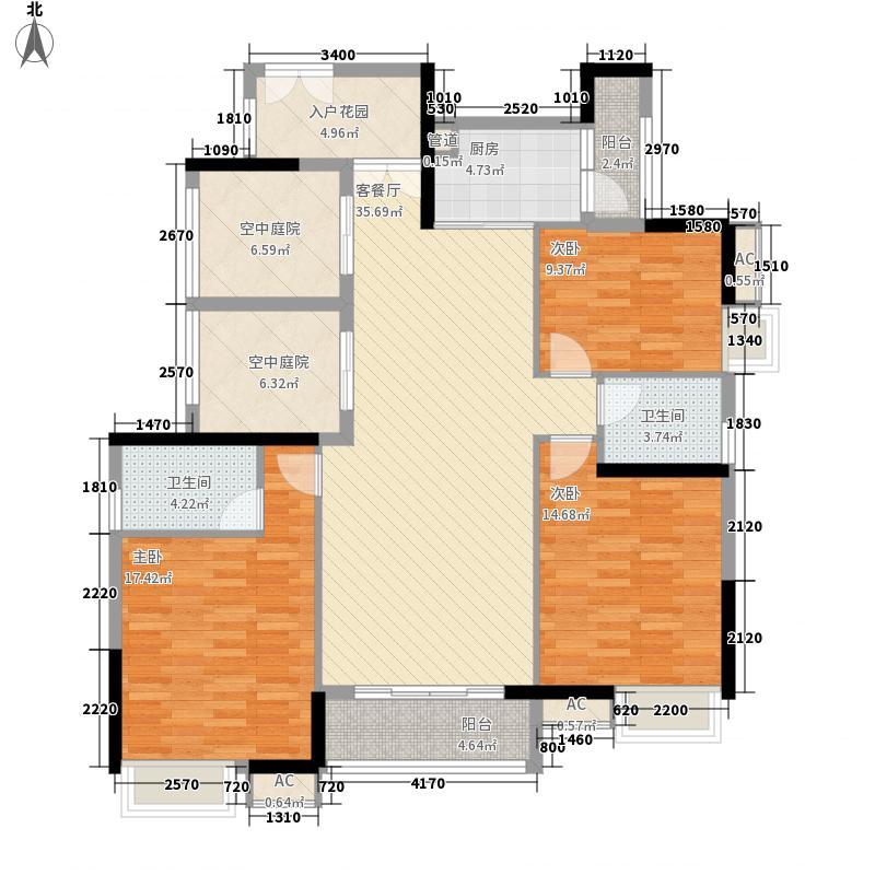 地标广场二期138.00㎡地标广场二期天誉户型图5、7栋03单元偶数层B户型5室2厅2卫1厨户型5室2厅2卫1厨