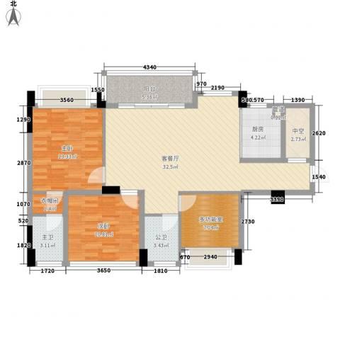 宏远新村2室1厅0卫1厨96.68㎡户型图