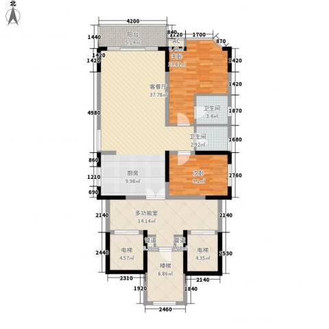 世纪绿洲2室1厅2卫0厨103.03㎡户型图