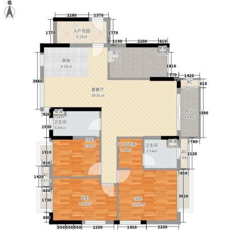 棕榈泉五期3室1厅2卫0厨145.00㎡户型图