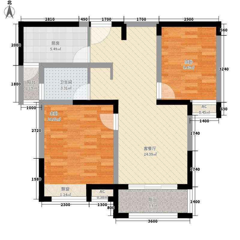 金宏豪庭3户型2室2厅1卫1厨