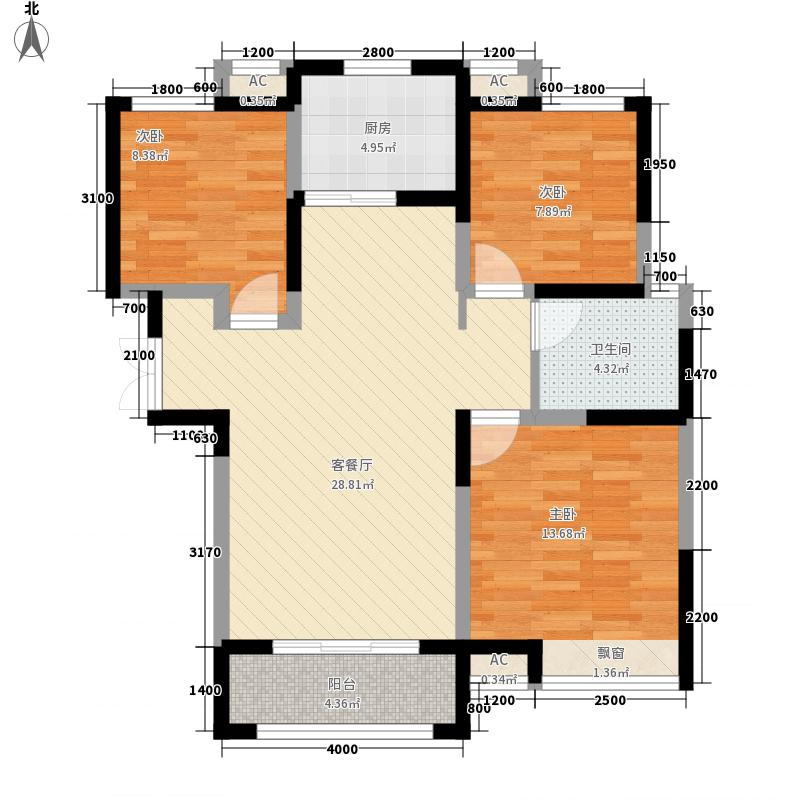 金宏豪庭5户型3室2厅1卫1厨