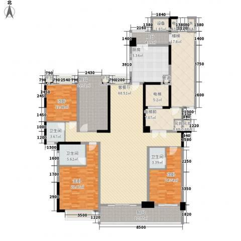 锦绣山河四期3室1厅3卫1厨288.00㎡户型图