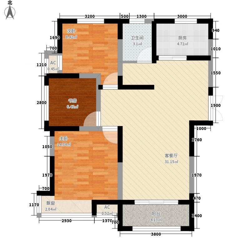 金宏豪庭4户型3室2厅1卫1厨