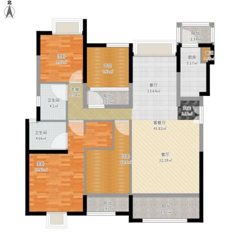 香悦四季(合景悦邑)3室1厅2卫1厨169.00㎡户型图