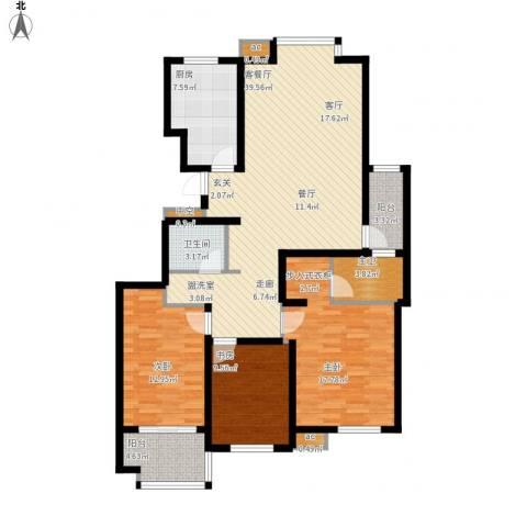 星光东昌丽都3室1厅1卫1厨149.00㎡户型图