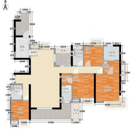 清远奥园4室1厅4卫1厨171.00㎡户型图