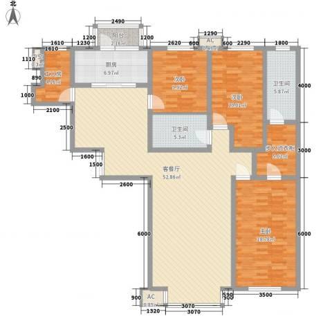 秋实e景二期3室1厅2卫1厨171.00㎡户型图