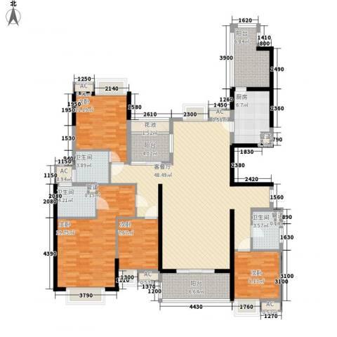 清远奥园4室1厅3卫1厨196.00㎡户型图