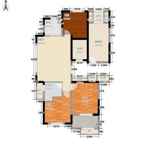 清水绿园3室1厅1卫1厨146.00㎡户型图