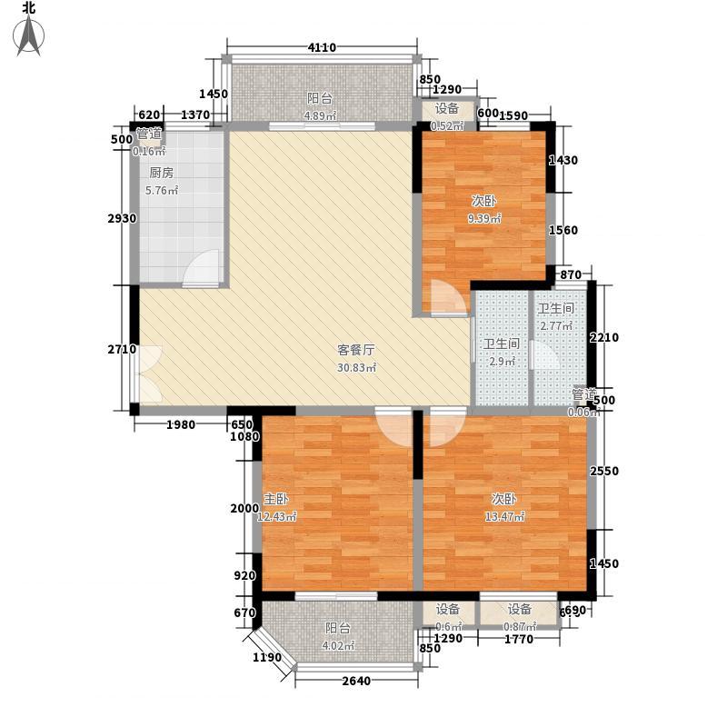 新华城市家园124.74㎡M户型