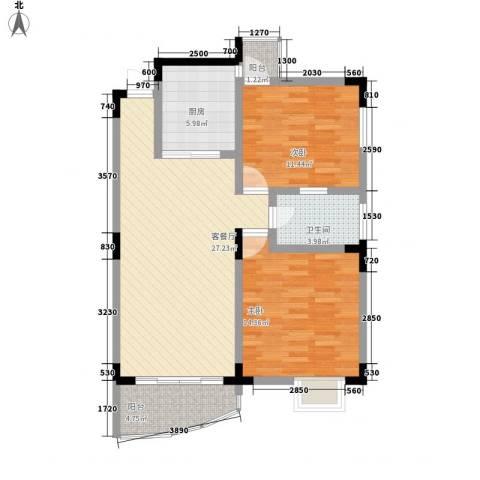 梧桐大厦2室1厅1卫1厨68.97㎡户型图