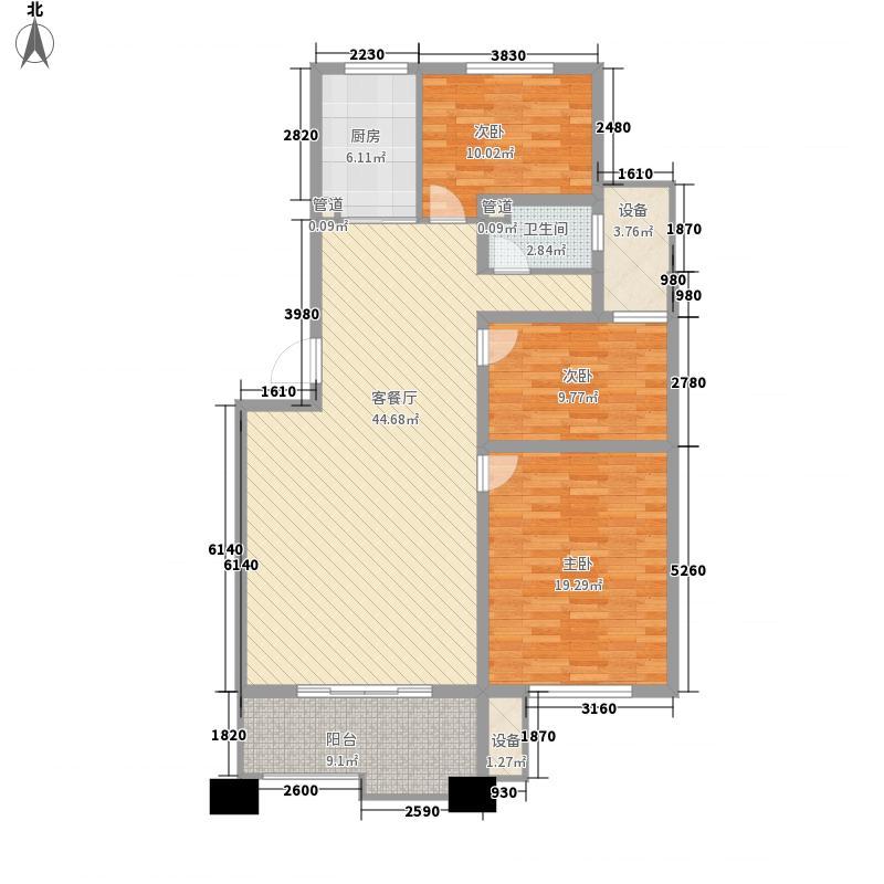 银河湾151.00㎡一期高层A4户型4室2厅2卫1厨