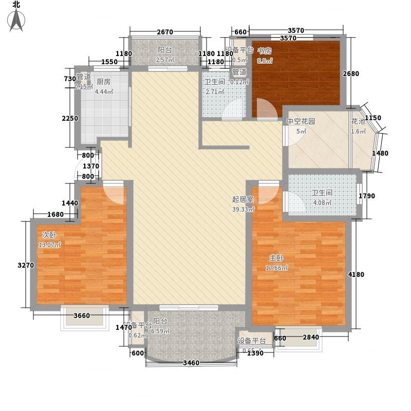 海航国兴城144.41㎡海航国兴城户型图三组团户型3室2厅2卫1厨户型3室2厅2卫1厨