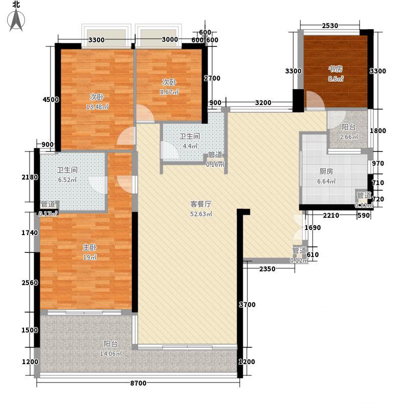 华发世纪城三期163.50㎡G6户型4室2厅2卫