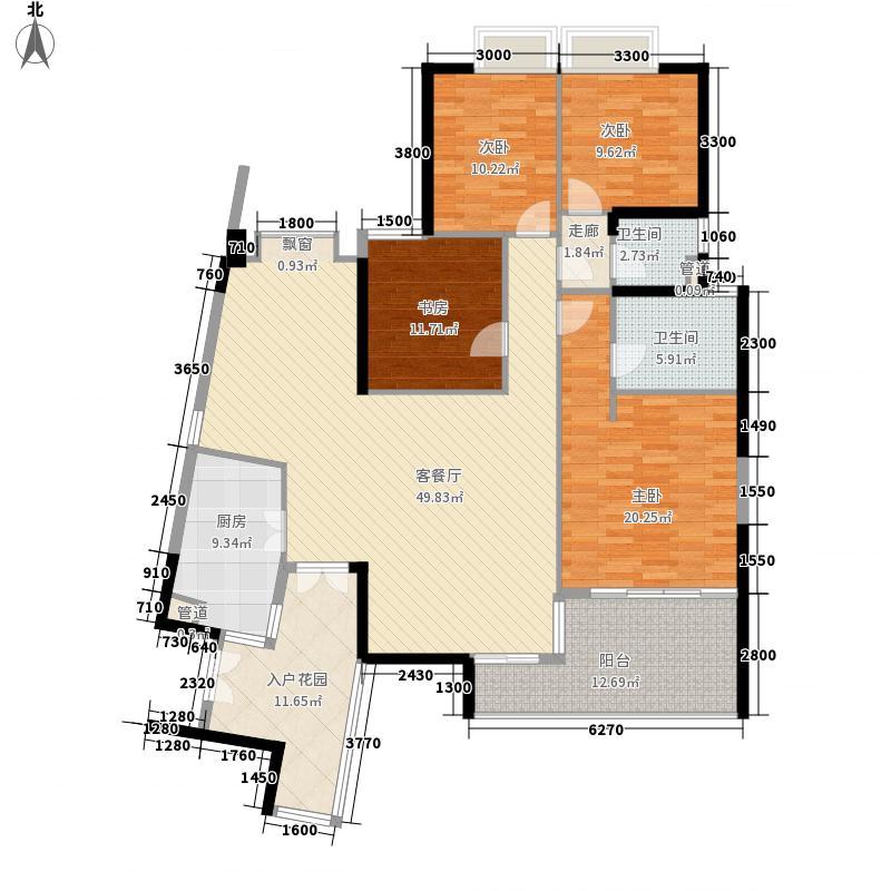 华发世纪城三期162.43㎡F4户型4室2厅2卫