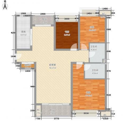 珠江东都国际3室0厅2卫1厨140.00㎡户型图