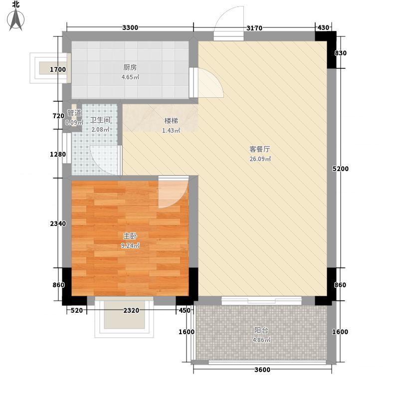碧海名园户型1室
