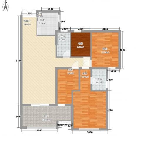 融汇江山4室1厅2卫0厨142.00㎡户型图