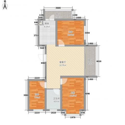 新龙城3室1厅1卫0厨104.00㎡户型图