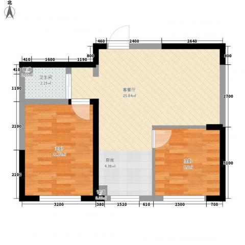 中顺福苑2室1厅1卫0厨70.00㎡户型图