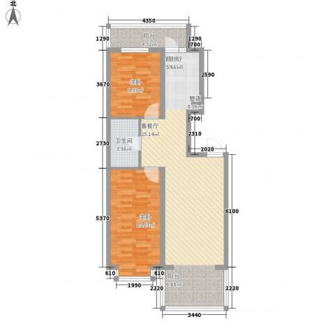 新龙城2室1厅1卫0厨100.00㎡户型图