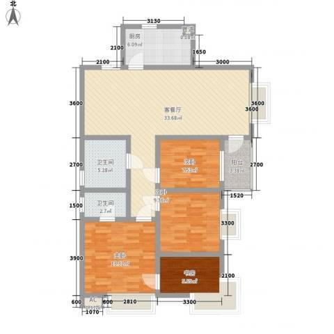 三丰公寓4室1厅2卫1厨123.00㎡户型图