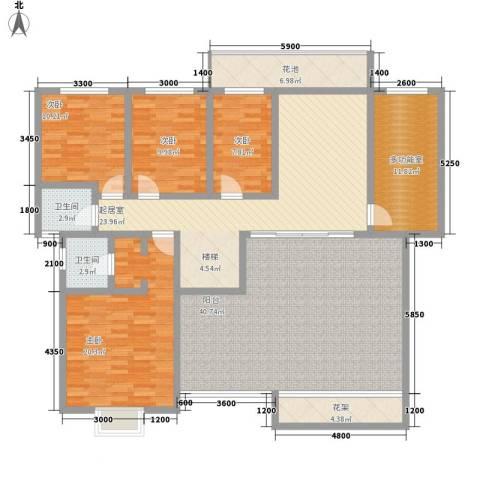 丽阳天下4室0厅2卫0厨210.00㎡户型图