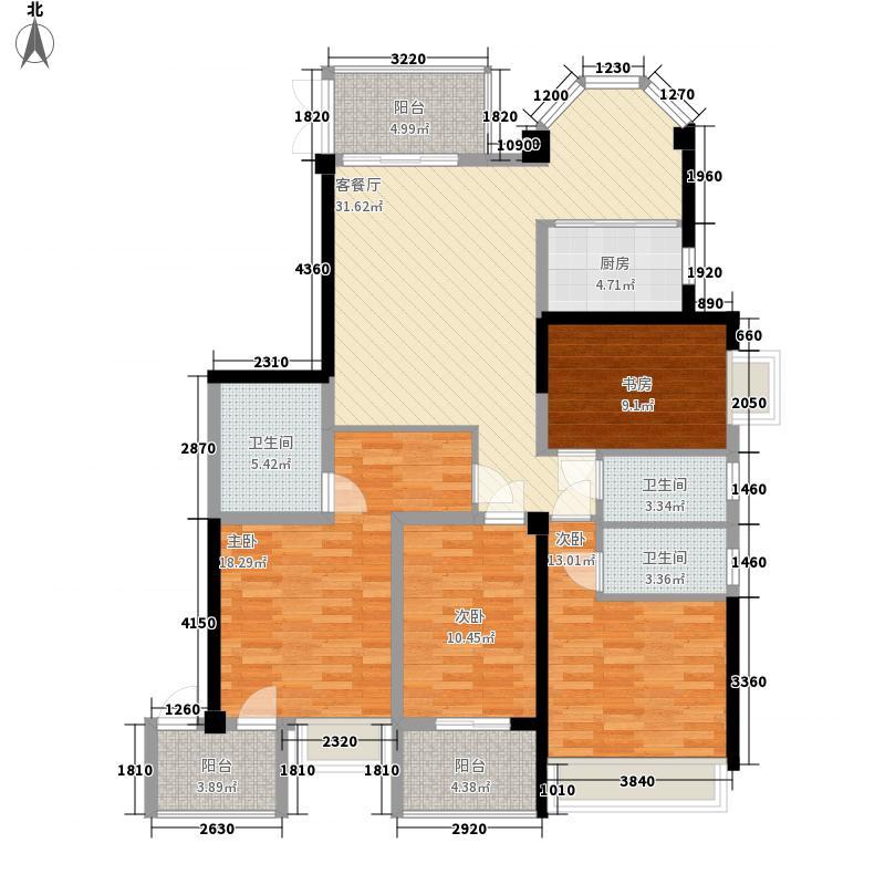 泰禾红峪162.00㎡泰禾红峪户型图A9#楼01-02-11-12单元户型图4室2厅3卫1厨户型4室2厅3卫1厨