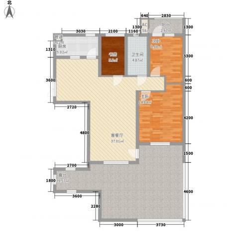 三丰公寓3室1厅1卫1厨119.66㎡户型图