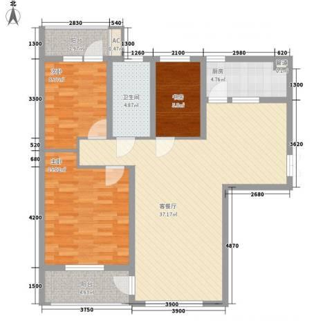三丰公寓3室1厅1卫1厨112.00㎡户型图