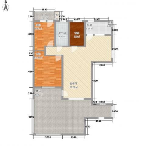 三丰公寓3室1厅1卫1厨120.70㎡户型图